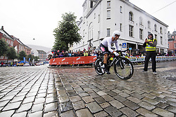 September 20, 2017 - Bergen, NORWAY - 170920 Christopher Froome of Great Britain starts the climb towards Mt. FlÂ¿yen during the Men Elite Individual Time Trial on September 20, 2017 in Bergen..Photo: Jon Olav Nesvold / BILDBYRN / kod JE / 160023 (Credit Image: © Jon Olav Nesvold/Bildbyran via ZUMA Wire)