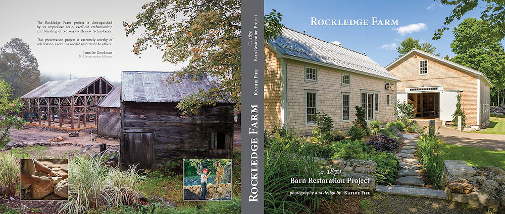 """Three years in the making of my new book, """"Rockledge Farm: c1870 Barn Restoration Project"""". It is the story and photo documentary of the oldest, most original, intact barn in NH. Truly, a dream come true to work on a project like this with incredibly gifted craftsmen and an amazing client.<br /> <br /> $350.00 each + $25 Shipping<br /> Call or email to order. May take up to three weeks to ship if books are not in stock at the time of order.<br /> <br /> Printed using highest quality acid free photographic paper. Large landscape size. Each book weighs five pounds.<br /> <br /> 240 full color pages.<br /> Large landscape size.<br /> Hardcover.<br /> <br /> ISBN 978-1-36-499376-4"""