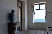 A statue of Gandhi in the derelict Hotel du Ville that has been saved by INTACH Indian National Trust for Art and Cultural Heritage. Pondicherry, India. Pondicherry, India. Pondicherry now Puducherry is a Union Territory of India and was a French territory until 1954 legally on 16 August 1962. The French Quarter of the town retains a strong French influence in terms of architecture and culture.