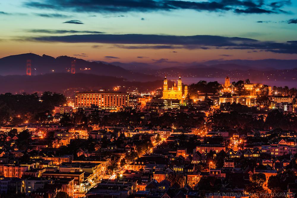Golden Gate Bridge, St. Ignatius Church, & University of San Francisco