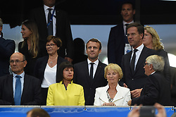 French president Emmanuel Macron and Dutch Prime minister Mark Rutte during the 2018 FIFA World Cup qualifying football match France vs Netherlands at the Stade de France in Saint-Denis, north of Paris, on August 31, 2017. Photo by ELIOT BLONDET/ABACAPRESS.COM