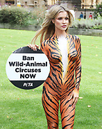 Bodypainted as a Tiger, Supermodel Joanna Krupa calls for a Ban on Animal Circuses