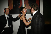 Kevin Spacey, Eve Best and Colm Meaney, First night  for 'A Moon For the Misbegotten' at the Old Vic.  Party at Trafalgar. London. 27 September 2006. -DO NOT ARCHIVE-© Copyright Photograph by Dafydd Jones 66 Stockwell Park Rd. London SW9 0DA Tel 020 7733 0108 www.dafjones.com