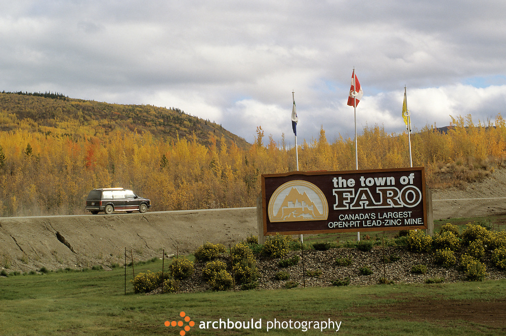 Town of Faro. Canada's largest open-pit lead-zinc mine.
