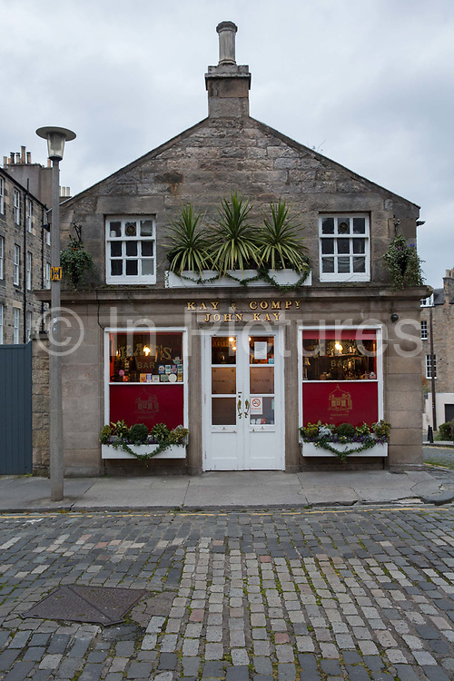 Kays Bar on the 9th November 2018 in Edinburgh, Scotland in the United Kingdom. A cosy Victorian pub with wooden barrel decor and a library for guest draught beers and plain lunches.