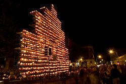 Jcak o Lantern Tower at Central Square, Keene Pumpkin Festival, Keene NH