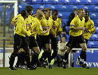 Fotball<br /> Caling Cup England 2004/2005<br /> Andre runde<br /> 21.09.2004<br /> Foto: SBI/Digitalsport<br /> NORWAY ONLY<br /> <br /> Reading v Watford<br /> <br /> Neil Cox celebrates scoring his penalty with his team mates.
