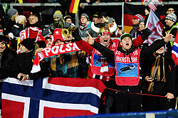 January 20, 2018 - Oberstdorf, GERMANY - 180120 Norweigian fans celebrating after Daniel-André Tande of Norway won the FIS Ski Flying World Championships on January 20, 2018 in Oberstdorf..Photo: Vegard Wivestad Grøtt / BILDBYRÃ…N / kod VG / 170080 (Credit Image: © Vegard Wivestad GrØTt/Bildbyran via ZUMA Wire)