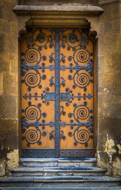 Door on the Cathedral in Zagreb, Croatia