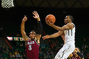 WACO, TX - DECEMBER 17: Lester Medford #11 of the Baylor Bears drives to the basket against the New Mexico State Aggies on December 17, 2014 at the Ferrell Center in Waco, Texas.  (Photo by Cooper Neill/Getty Images) *** Local Caption *** Lester Medford