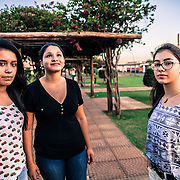 Pedro Juan Caballero - Ponta Porã, MS, border Paraguay - Brazil. Miguela, Tainá and Gabriela. Friends, Brazilian-born, speak portuguese but raised as Paraguayans following the traditions and the customs of their families. Their documents say they are Brazilians but they feel Paraguayans