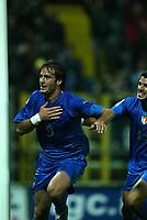 PARMA, 13-10-04<br />Qualificazioni Mondiali<br />Italia Bielorussia<br />nella  foto Gilardino esulta dopo il suo gol<br />Foto Snapshot / Graffiti