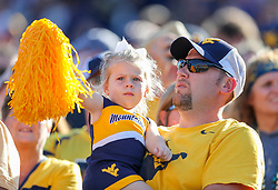 Sep 11, 2021; Morgantown, West Virginia, USA; West Virginia Mountaineers fans cheer during the first quarter against the Long Island Sharks at Mountaineer Field at Milan Puskar Stadium. Mandatory Credit: Ben Queen-USA TODAY Sports