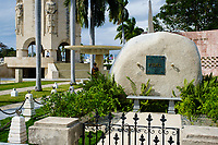 SANTIAGO DE CUBA, CUBA - CIRCA JANUARY 2020: Fidel Castro Mausoleum at the Santa Ifigenia Cemetery in Santiago de Cuba. This is the resting place of a few notable Cubans, including Jose Marti and Fidel Castro among others.