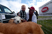 Sheep breeder Fintan Thornton of Tynagh Co Galway with his grandson Carolan Brennan attending 'SHEEP2015', the major National Sheep Open Day hosted by Teagasc at Athenry on Saturday. Photo:- Andrew Downes / xposure.ie  No Fee. Issued on behalf of Teagas