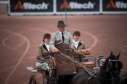 Gert Schrijvers, (BEL), El Fiero, Giganta A, Onyx, Replay, Victor K - Driving dressage day 2 - Alltech FEI World Equestrian Games™ 2014 - Normandy, France.<br /> © Hippo Foto Team - Dirk Caremans<br /> 05/09/14