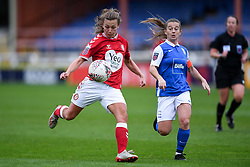 Charlie Wellings of Bristol City Women has a shot on goal - Mandatory by-line: Ryan Hiscott/JMP - 18/10/2020 - FOOTBALL - Twerton Park - Bath, England - Bristol City Women v Birmingham City Women - Barclays FA Women's Super League