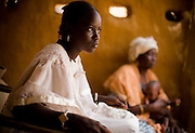 Haoua Bokoum Amadou, 14, and her grandmother Aissatou in the village of Pétéguersé, 40 km north of Dori, Burkina Faso on Monday May 11, 2009. A few months ago, Haoua was forced to marry the son of her village's chief - who is also her cousin.