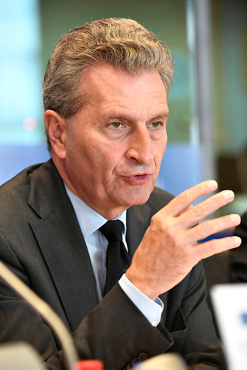 12 May 2017, 123rd Plenary Session of the European Committee of the Regions <br /> Belgium - Brussels - May 2017 <br /> <br /> Günther H. Oettinger, Commissioner for Budget and Human Resources