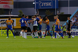 Sheffield Wednesday and Mansfield Town players fight - Mandatory by-line: Ryan Crockett/JMP - 24/07/2018 - FOOTBALL - One Call Stadium - Mansfield, England - Mansfield Town v Sheffield Wednesday - Pre-season friendly