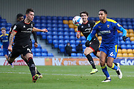 AFC Wimbledon defender Terell Thomas (6) battles for possession during the EFL Sky Bet League 1 match between AFC Wimbledon and Lincoln City at Plough Lane, London, United Kingdom on 2 January 2021.