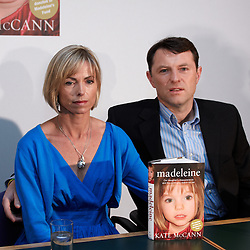 © licensed to London News Pictures. LONDON, UK  12/05/2011. Kate (L) and Gerry (R) McCann hold a press conference to launch a book about their daughter Madeleine disappearance. All royalties are being used to fund the ongoing investigation to her whereabouts. Please see special instructions for usage rates. Photo credit should read CLIFF HIDE/LNP