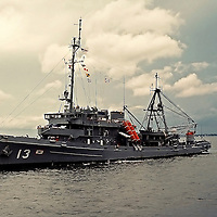 1950s view port side, USS Kittiwake