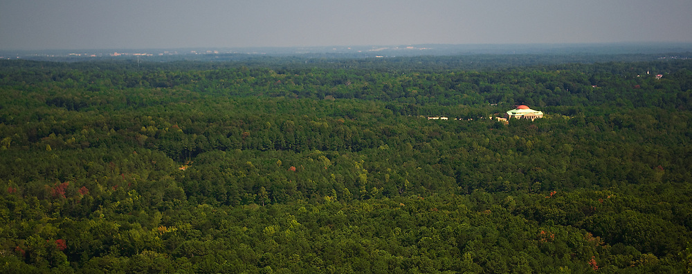 View of the landscape from the top of Stone Mountain, Georgia
