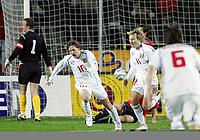 Fotball<br /> Play off VM 2006<br /> Tsjekkia v Norge <br /> Czech Republic v Norway<br /> 16.11.2005<br /> Foto: Morten Olsen, Digitalsport<br /> <br /> Tomas Rosicky celebrating 1-0 with Pavel Nedved