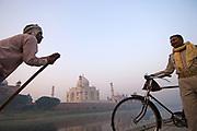 The Taj Mahal on the Yamuna River, Agra, Uttar Pradesh