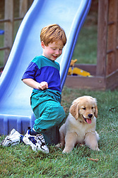 Eric Gandrup & Yellow Lab Puppy