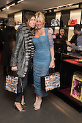 JO VICKERS; ANNA SCOLARO, Anna Scolaro hosts a charity shopping event at  Dolce and Gabbana, 175 Sloane St. London. In aid of TeamFox.org for Parkinsons. 10 February 2016