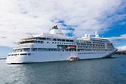 Cruise ship Silver Whisper Nassau in Sydney Harbour at the start  of the Coronavirus Outbreak in Sydney, Australia.