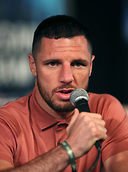 Tommy Coyle during the undercard press conference at Madison Square Garden, New York.