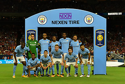 Manchester City Team photo during the International Champions Cup match between Manchester United and Manchester City at NRG Stadium in Houston, Texas