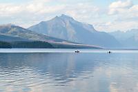 Kayaking on Lake McDonald Glacier National Park Montana