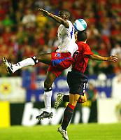 Boubarcar Sanogo, Javier Flano Osasuna<br /> Fussball Champions League Qualifikation CA Osasuna - Hamburger SV<br /> Norway only