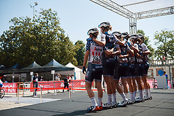 Trek Segafredo at Strade Bianche - Elite Women 2020, a 136 km road race starting and finishing in Siena, Italy on August 1, 2020. Photo by Sean Robinson/velofocus.com