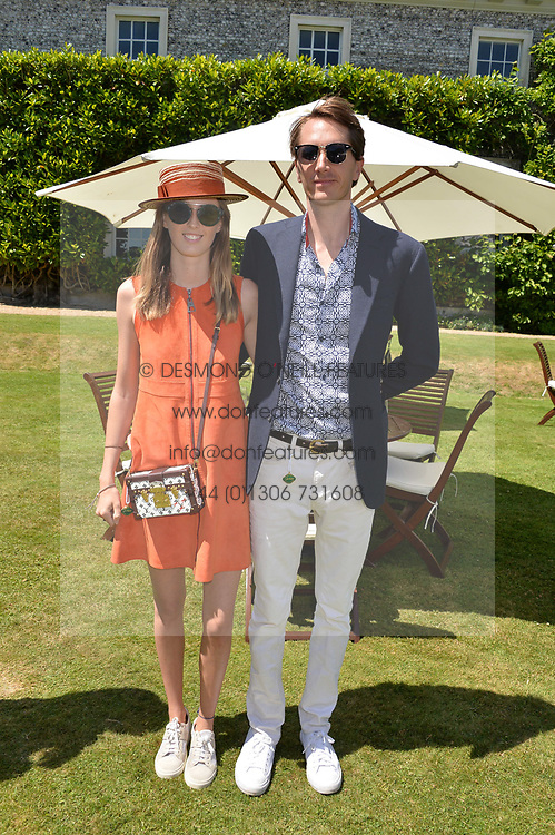 Lady Alice Manners and Otis Ferry at the Cartier Style et Luxe at the Goodwood Festival of Speed, Goodwood, West Sussex, England. 2 July 2017.<br /> Photo by Dominic O'Neill/SilverHub 0203 174 1069 sales@silverhubmedia.com