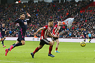 George Baldock of Sheffield Utd in action during the Premier League match at Bramall Lane, Sheffield. Picture date: 9th February 2020. Picture credit should read: Chloe Hudson/Sportimage