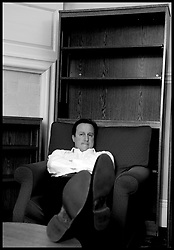 The Leader of the Conservative Party David Cameron waits with George Osborne for reports from William Hague on the coalition talks with the Liberal Democrats, Monday May 10, 2010. Photo By Andrew Parsons / i-Images.