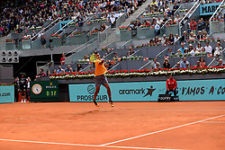 May 8, 2019 - Madrid, Spain - Felix Auger-Aliassime (CAN) in his match against Rafa Nadal (SPA) during day five of the Mutua Madrid Open at La Caja Magica in Madrid on 8th May, 2019. (Credit Image: © Juan Carlos Lucas/NurPhoto via ZUMA Press)