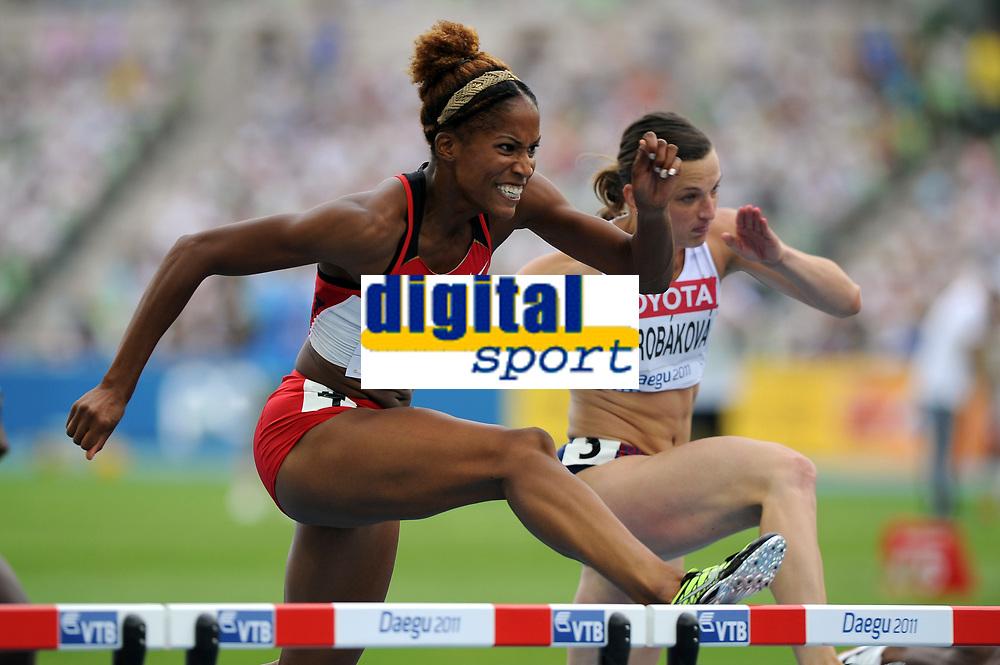 ATHLETICS - IAAF WORLD CHAMPIONSHIPS 2011 - DAEGU (KOR) - DAY 7 - 02/09/2011 - 100M HURDLES - PHYLICIA GEIRGE (CAN) - PHOTO : FRANCK FAUGERE / KMSP / DPPI