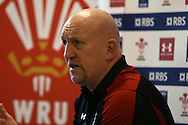 Shaun Edwards, the Wales rugby defence coach speaks to the media during the Wales Rugby team press conference at the Vale Resort, Hensol near Cardiff, South Wales on Monday 30th January 2017. The team are preparing for start of this years RBS Six Nations championship which starts this weekend. pic by  Andrew Orchard, Andrew Orchard sports photography.