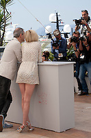 Director Olivier Assayas and Kristen Stewart with photographers at the Personal Shopper film photo call at the 69th Cannes Film Festival Tuesday 17th May 2016, Cannes, France. Photography: Doreen Kennedy