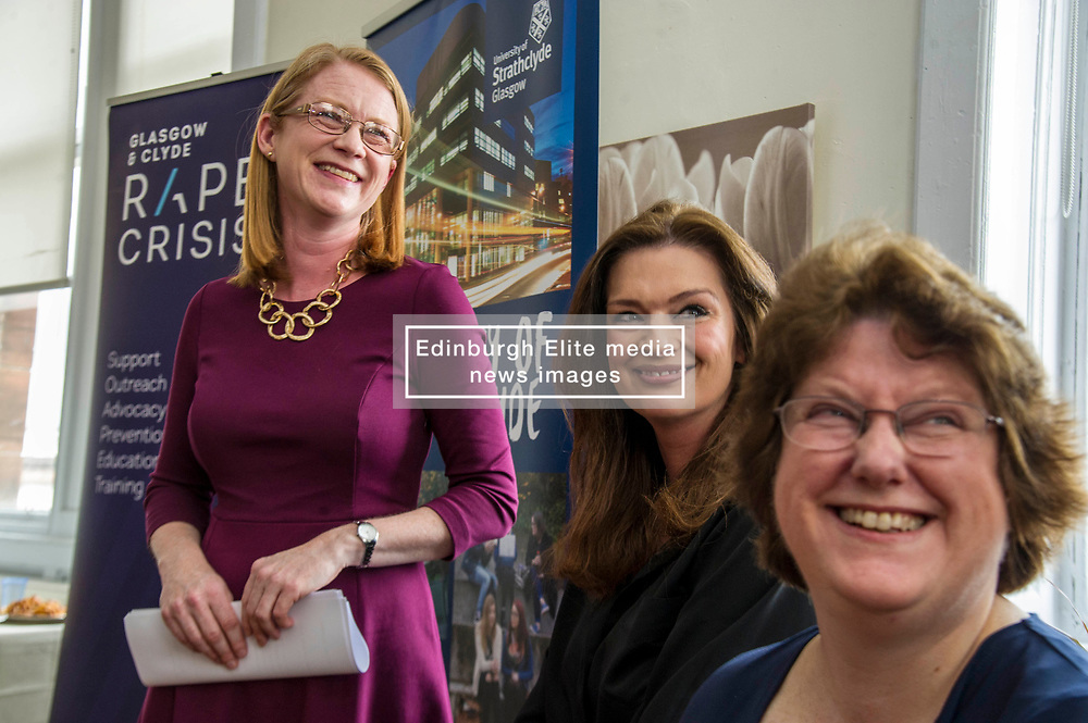 Pictured: Shirley-Anne Sommerville and Fiona Drouet had lots to talk about during an emotional meeting<br /> New practical guidance for universities to tackle gender-based violence on campus was launched today (Wednesday 25 April) by Further and Higher Education Minister, Shirley-Anne Somerville,  .<br /> <br /> Guidance and training for staff, better data collection and well-publicised support information for students are some of the recommendations set out in the toolkit, which has been produced by the University of Strathclyde and funded by the Scottish Government.<br /> <br /> The toolkit, which will be adapted for colleges, takes forward the principles set out in the #emilytest campaign set up by Fiona Drouet, in memory of her daughter Emily.<br /> <br /> The Minister visited Glasgow Rape Crisis Centre and heard about the work they do to support people affected by gender-based violence and their support in developing the toolkit. Ms Somerville met Fiona Drouet and other organisations involved in the development of the toolkit to discuss the #emilytest campaign and on-going work to support students affected by gender-based violence.<br /> <br /> Ger Harley   EEm 25 April 2018