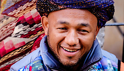 A portrait of a Berber stallholder in the medina in Marrakech, Morocco, North Africa<br /> <br /> <br /> <br /> (c) Andrew Wilson | Edinburgh Elite media