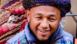 A portrait of a Berber stallholder in the medina in Marrakech, Morocco, North Africa<br /> <br /> <br /> <br /> (c) Andrew Wilson | Edinburgh Elite media