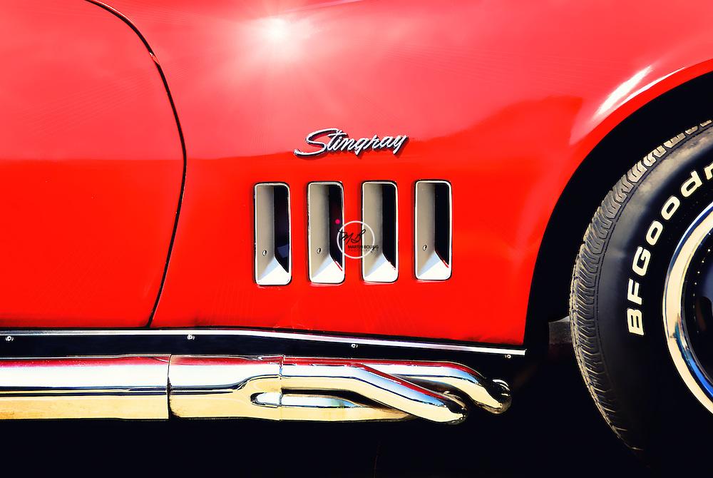 Red, Corvette Stingray, vette, 1969
