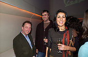 Gary Hume, Ben Weaver and Serena Rees. Charity auction for five Vespas customised by artists. Held in aid of Action on Addiction. Sketch. 30 November 2004. ONE TIME USE ONLY - DO NOT ARCHIVE  © Copyright Photograph by Dafydd Jones 66 Stockwell Park Rd. London SW9 0DA Tel 020 7733 0108 www.dafjones.com